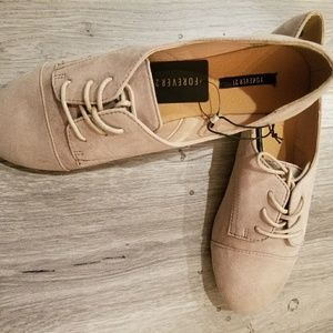 F21 Taupe Faux suede shoes